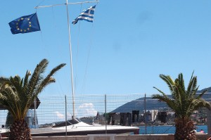 Europe is not only present with its flag but also with Frontex