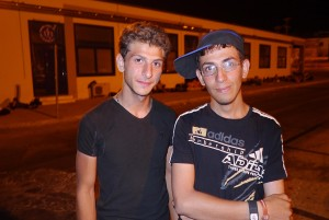 Two unaccompanied minors from Syria spending the night in the port to wait for the ferry
