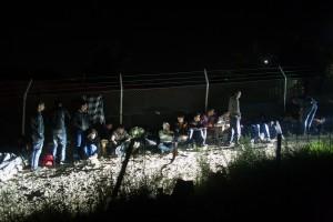 Queue of Non-Syrians / copyright: Salinia Stroux