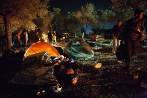 The lucky ones have tents, the others don't / copyright: Salinia Stroux