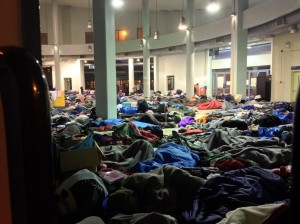 Sleeping in Piraeus gate